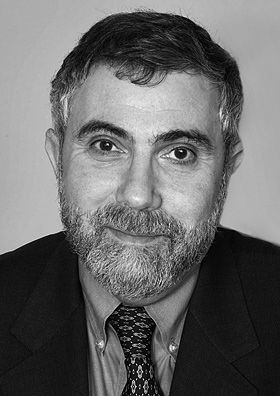 Paul Krugman (1953) is an American economist, Distinguished Professor of Economics at the Graduate Center of the City University of New York, and an op-ed columnist for The New York Times. In 2008, Krugman was awarded the Nobel Memorial Prize in Economic Sciences for his contributions to New Trade Theory and New Economic Geography.  Krugman considers himself a modern liberal, calling one of his books and his New York Times blog The Conscience of a Liberal.