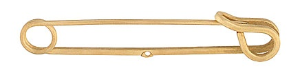 Square Wire Brass Safety Pin (1 Hole) - 2.5