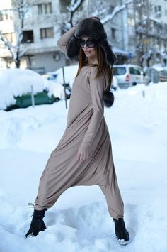 New Colection-Extra Long Sleeves Beige Jumpsuit / by EUGfashion