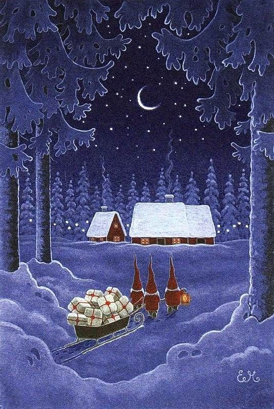 .Magical Christmas Scene