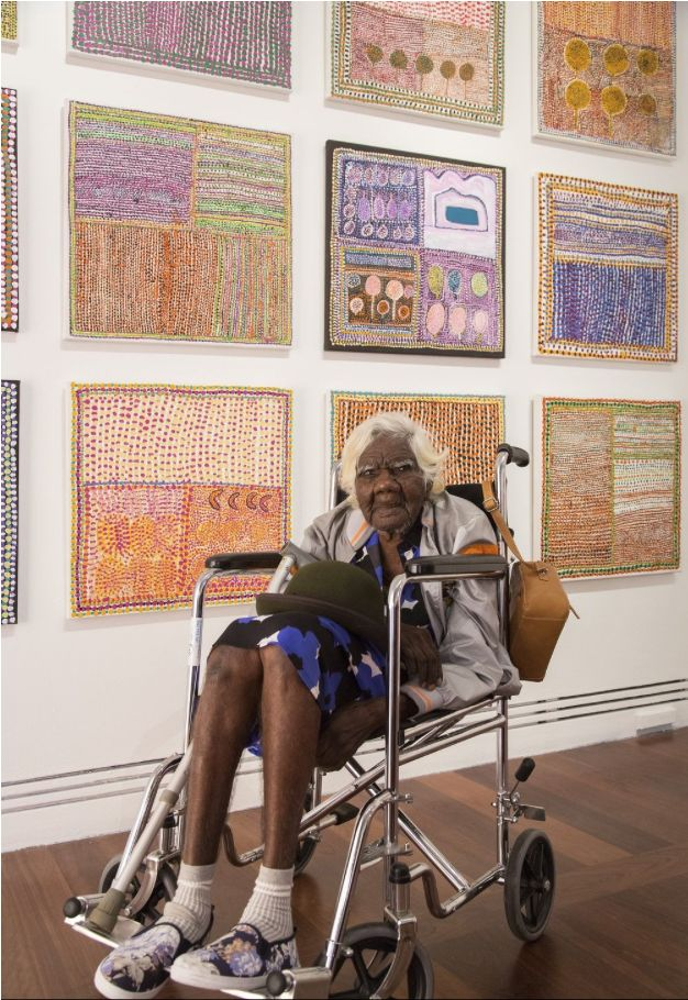 What materials are used to produce Aboriginal art?