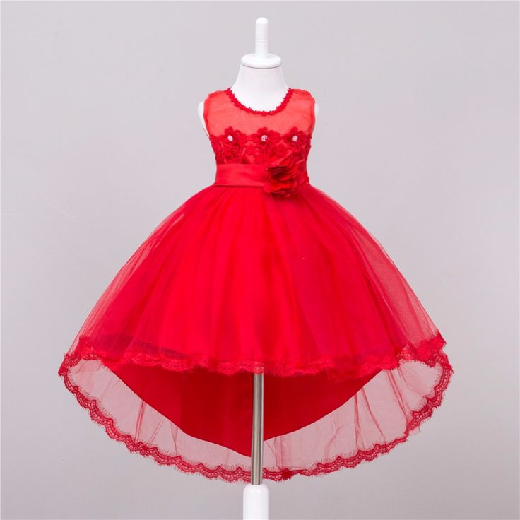 ==> [Free Shipping] Buy Best novatx brand Girl Dress Flower Kids baby girl clothes white pink red dress for girls wedding dresses new arrival Online with LOWEST Price | 32793776424
