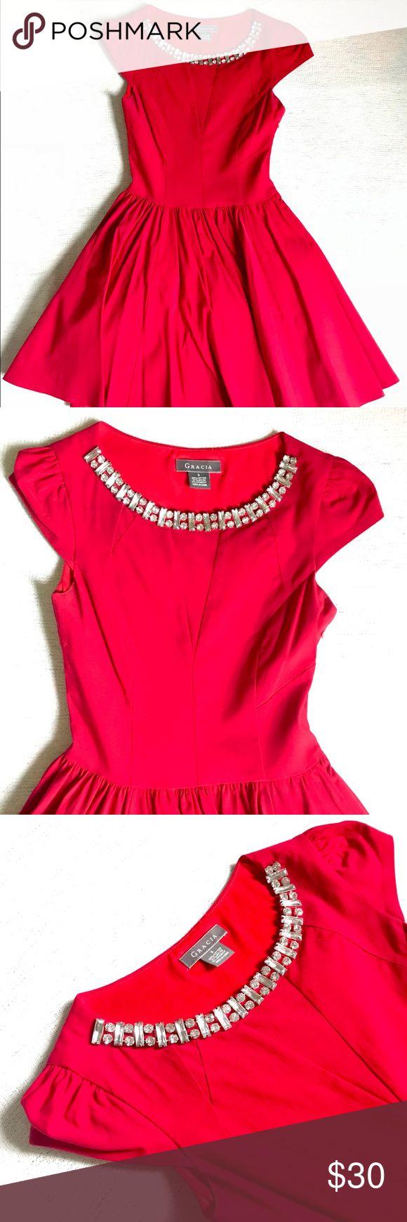 Spotted while shopping on Poshmark: Ruby Red Dress! #poshmark #fashion #shopping #style #Gracia #Dresses & Skirts