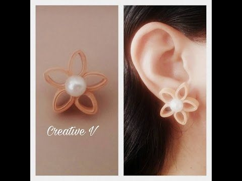 How to Make Quilling Stud Earrings/Design 11/Tutorial - YouTube