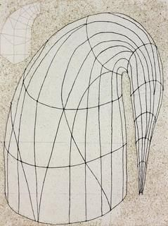 16Martin_Puryear.jpg    Phrygian (Cap in the Air)  2012  Color softground etching with spitbite aquatint, aquatint, and   drypoint on Somerset White paper  35 x 28 inches; 89 x 71 cm