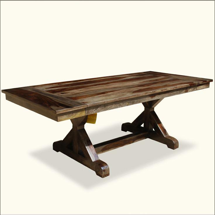 Nottingham Solid Wood Trestle Pedestal 66 Quot Dining Table W