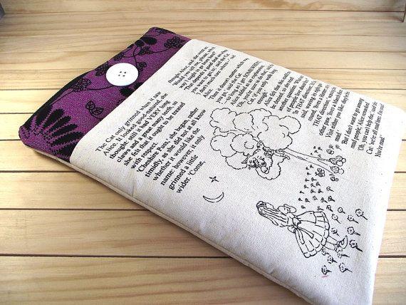 ALICE IN WONDERLAND Book Laptop Sleeve by LiteraryArtPrints, $46.00