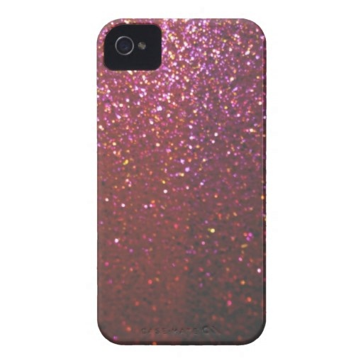 Hot pink Faux Sparkles & Glitter - Glam & Girly iPhone 4 Case-Mate Case