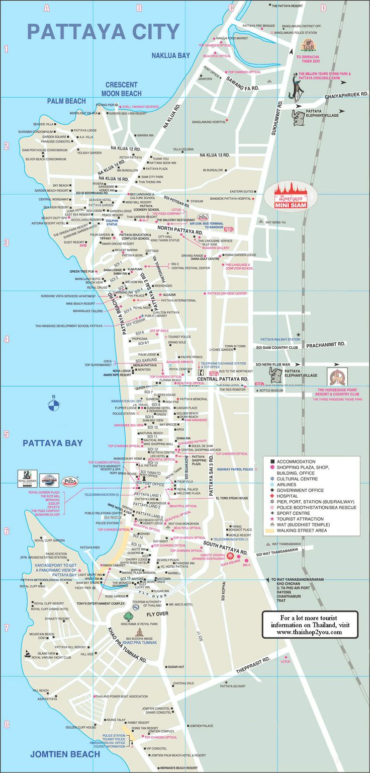 Pattaya Map and information about Laem Chebang Cruise Ship Terminal