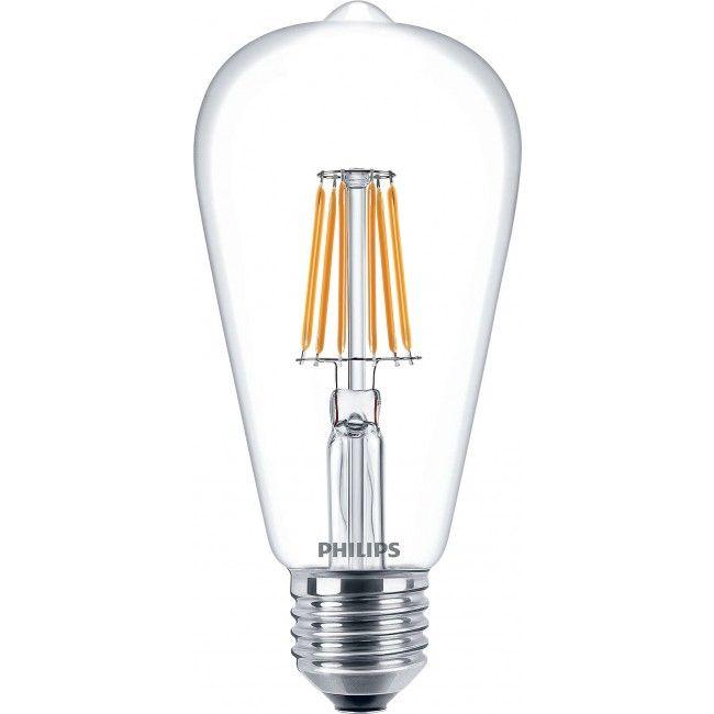 Philips Classic LEDBulb 7.5-60W 827 E27 Clear ST64 - Philips LED Retrofit - Philips LED lampen - Philips LED lampen - LED lampen -…
