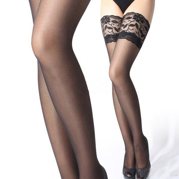 Club Sexy Women Girls Lady Sheer Lace Top Thigh High Sexy Lingerie Tights Stockings 5 Colors