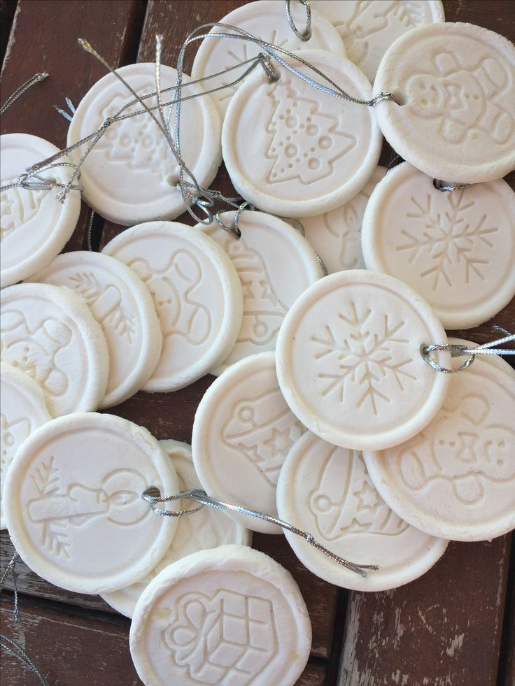 Home made christmastree ornaments -baking soda
