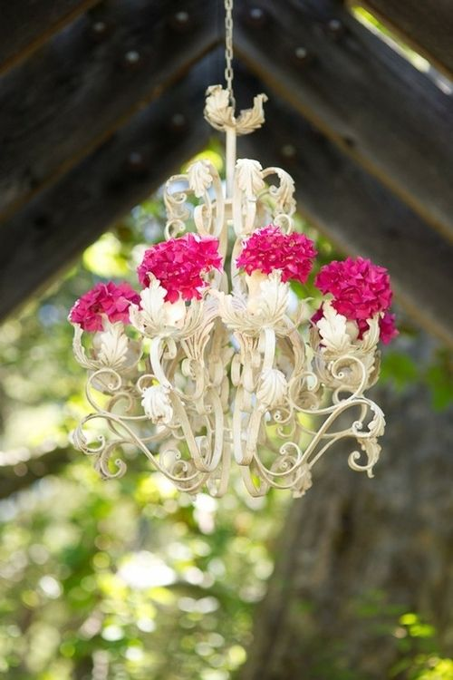 Chandelier and flowers!
