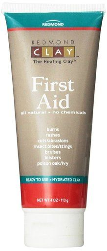 Redmond Trading First Aid Hydrated Clay Gel All Natural for Burns Rashes Cuts 4 oz