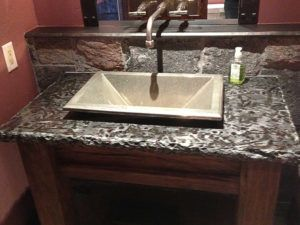 Custom Granite Vanity Tops With Undermount Sink