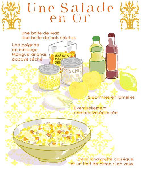 Salade en or - Tambouille.fr  Testé et approuvé même par le gnome !