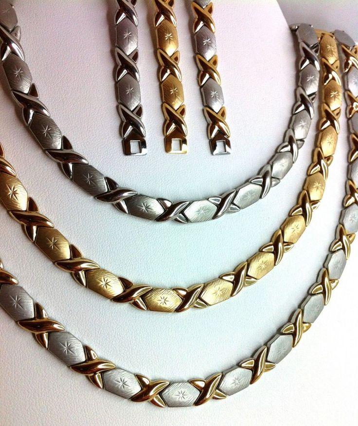 Xoxo Gold Bracelet: Details About XOXO Hugs And Kisses Necklace Bracelet Set