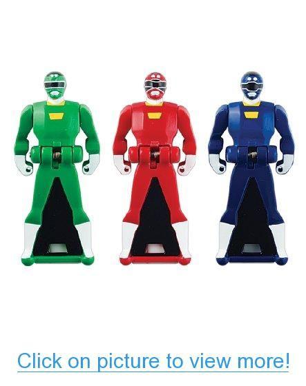 Power Rangers Super Megaforce - Turbo Legendary Ranger Key Pack, Red/Blue/Green