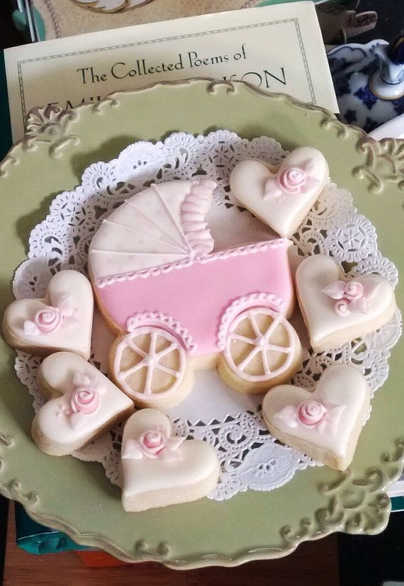 12 Baby Carriage Cookie Favors  for baby showers by MarinoldCakes