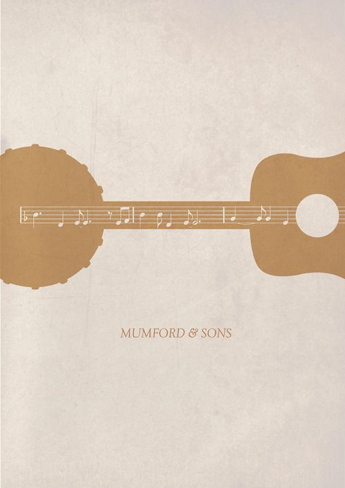 indie music poster design | music Typography design indie acoustic Poster mumford and sons ...