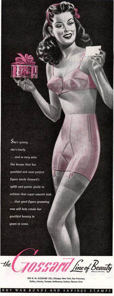 Classic 1950's lingerie ad.