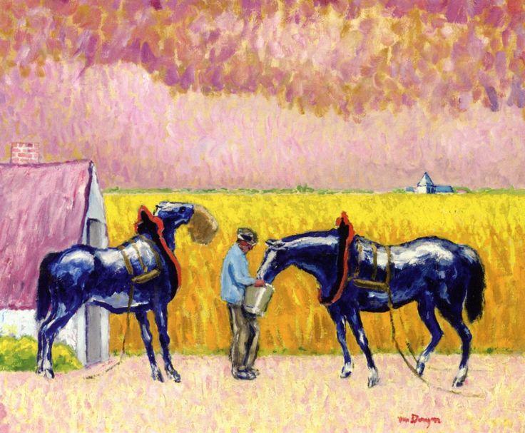 blastedheath: Kees van Dongen (Dutch, 1877-1968), Paysan et chevaux [Peasant and horses]. Oil on canvas, 54 x 64.8 cm. via dappledwithshadow