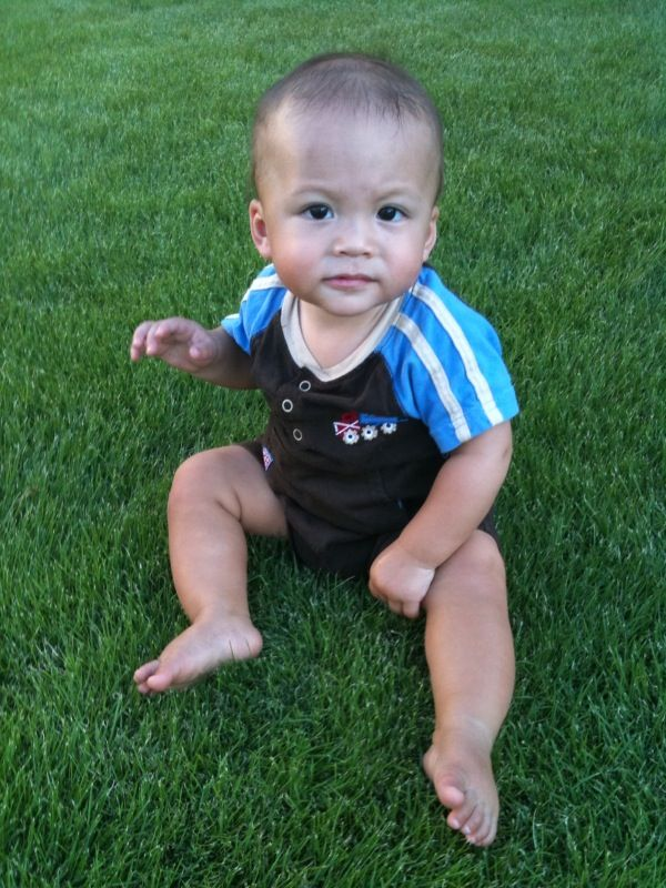 Joshua 8 Months Sitting In Grass