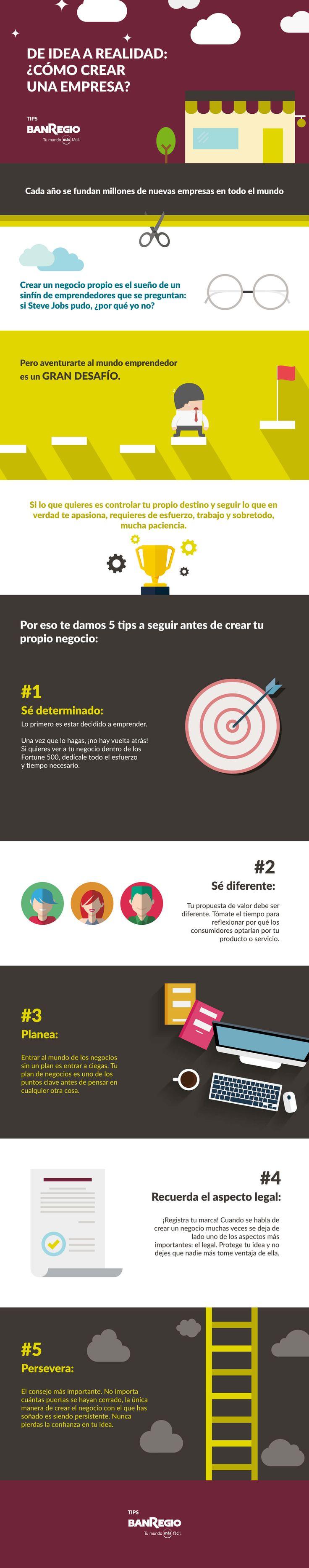 ·Emprender ·Emprendimiento ·StartUp ·Empresa ·Crea tu empresa ·infografico ·ilustración ·tips