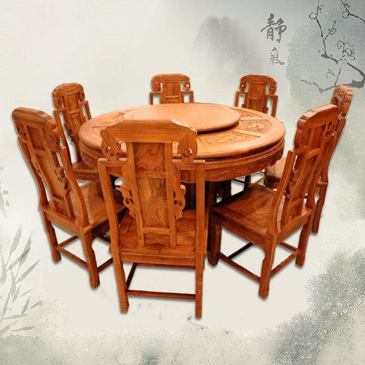 Красного дерева обеденный круглый стол , не состояниями палисандр мебель из красного дерева, Твердой древесины обеденные столы и стулья сочетание в качестве первого r