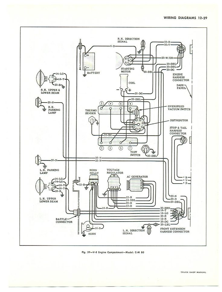Chevy truck wiring diagram is for large