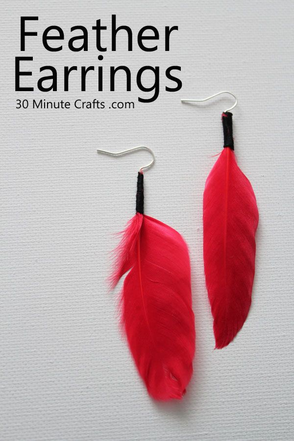 Simple Feather Earrings-- add in 2 more feathers (small & medium to each earing)