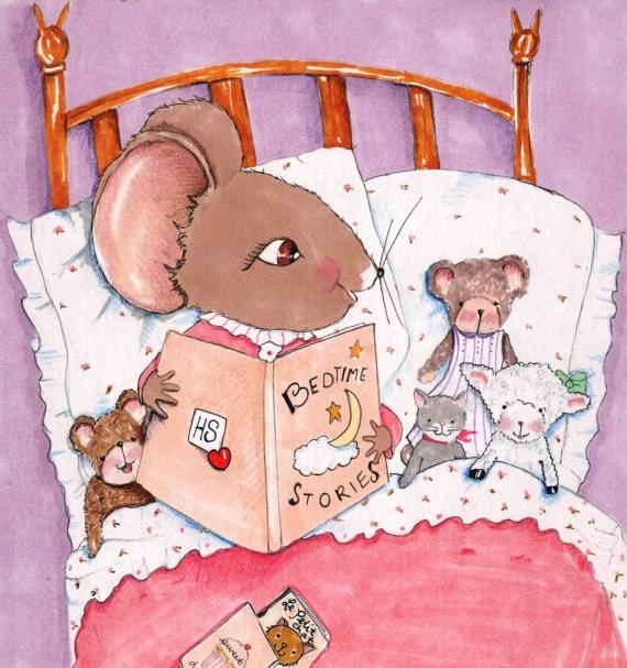 Childrens Art Print  Children Nursery by RoseHillDesignStudio, $20.00
