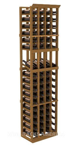 "Five Star Series: 4 Column 68 Bottle Display Wine Cellar Rack in Redwood with Oak Stain by Wine Racks America®. $400.91. Bottle capacity: 68 bottles (750ml). Industry 1-1/2"" toe-kick keeps your wine off the floor.. Made from eco-friendly wood sources in sustainable forests. 3 ¾"" wide cubicles for bottle access.. 11/16"" wood thickness. Designed for 750ml wine bottles. Some assembly required .. 15° industry-leading high reveal display. Money Back Guarantee + Lifetime Warra..."