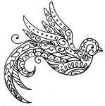 Paisley Bird Tattoo by ~Metacharis on deviantART