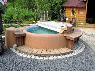 17 best images about garten pool softub on pinterest for Whirlpool garten mit alubretter balkon