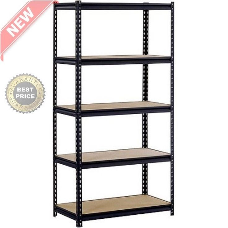 5 Level Adjustable Heavy Duty Shelves Unit Garage Shelf Steel Metal Storage Rack #Edsal