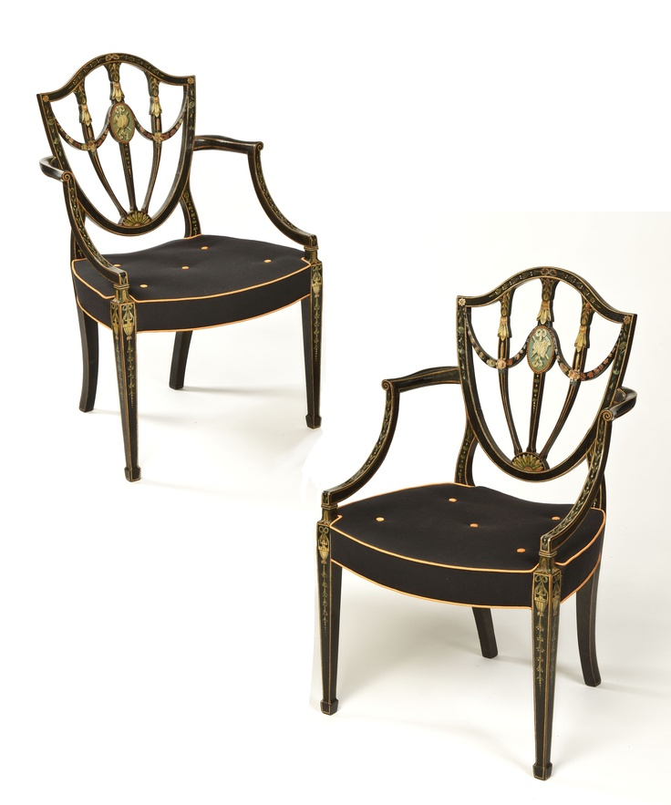 Pair of George III Decorated Chairs possibly by Seddon. English Antique  FurnitureGeorgian ... - 11 Best Georgian Antique Chairs Images On Pinterest Antique Chairs