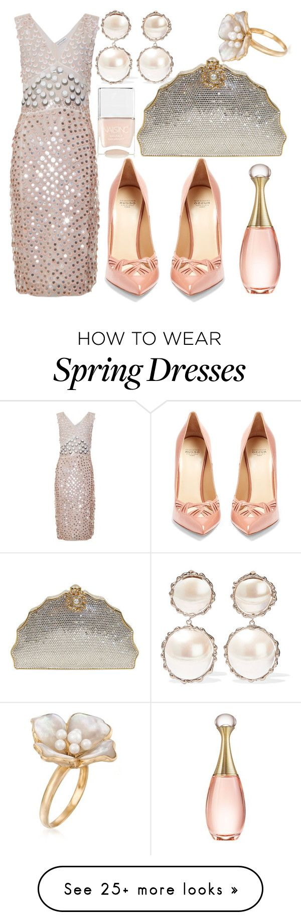 """Opalescent"" by fashionforwarded on Polyvore featuring Rosantica, Altuzarra, Judith Leiber, Francesco Russo, Christian Dior, Nails Inc., Ross-Simons and dreamydresses"