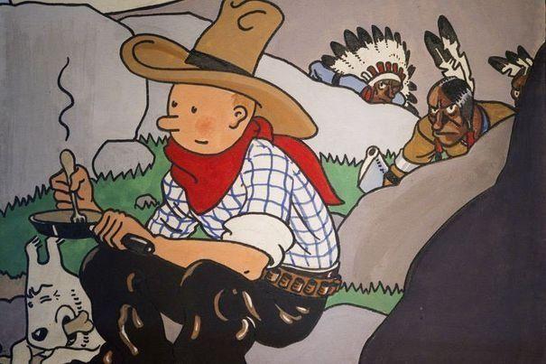 """Nouveau record pour la couverture de """"Tintin en Amérique"""": 1,3 million d'euros"""
