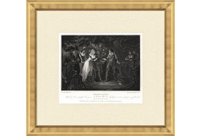 Shakespeare Print, 1791