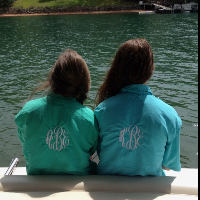 Monogram fishing shirtsFish Shirts, Style, Clothing, Rain Jackets, Monograms Fish, Fishing Shirts, Dreams Closets, Monograms Pfgs, Bridesmaid Gift