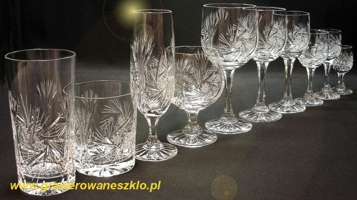 Kryształowe kieliszki do wina 170 ml MŁ :: Grawerowane Szkło