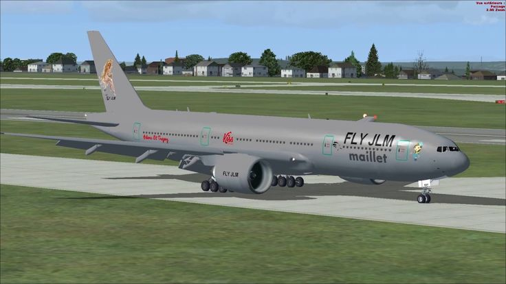 FSX Take off at Seattle airport with Boeing 777 Fly Jlm