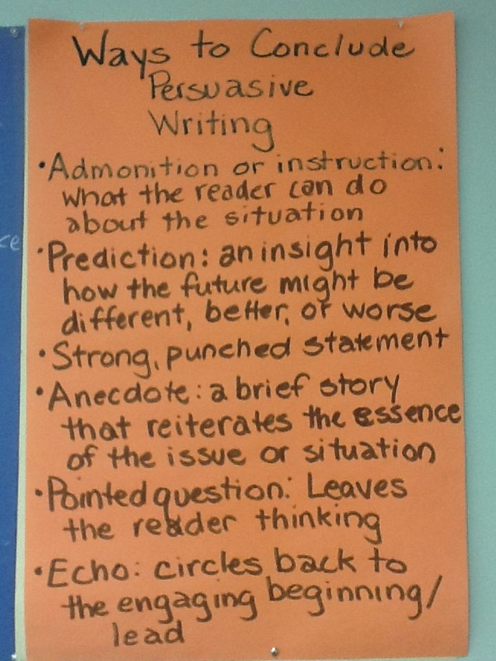How to Write a Concluding Paragraph for a Persuasive Essay in