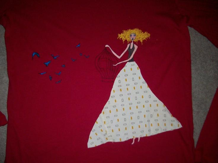 8 best camisetas pintadas a mano images on pinterest - Tecnicas de patchwork a mano ...