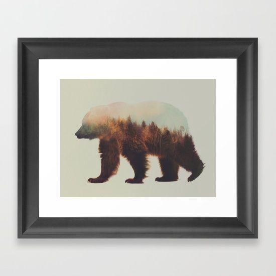 norwegian woods, brown bear, andreas lie, double exposure, bjørn, bear, brunbjørn,