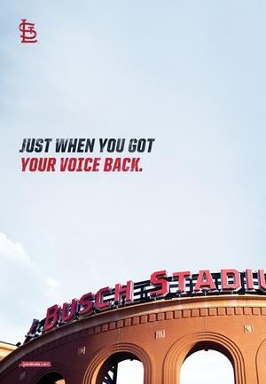 absolutely loving the new cards campaign from HLK.: Cardinalnation, Stl Cardinals, St. Louis Cardinals, Cardinals Baseball, Baby, Stl Cards, St Louis Cardinals ️, Cardinal Baseball, Cardinal Nation 3