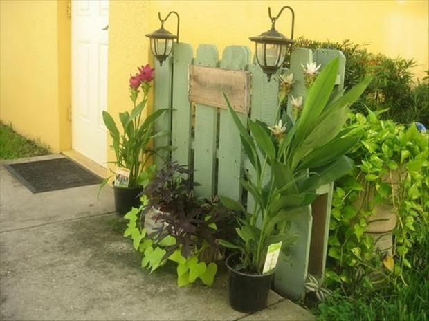beautiful garden walkway privacy wall made from wood pallets