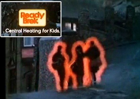 Ready Brek Advert from the 70s. Central heating for kids haha. Love Chocolate Ready Brek!