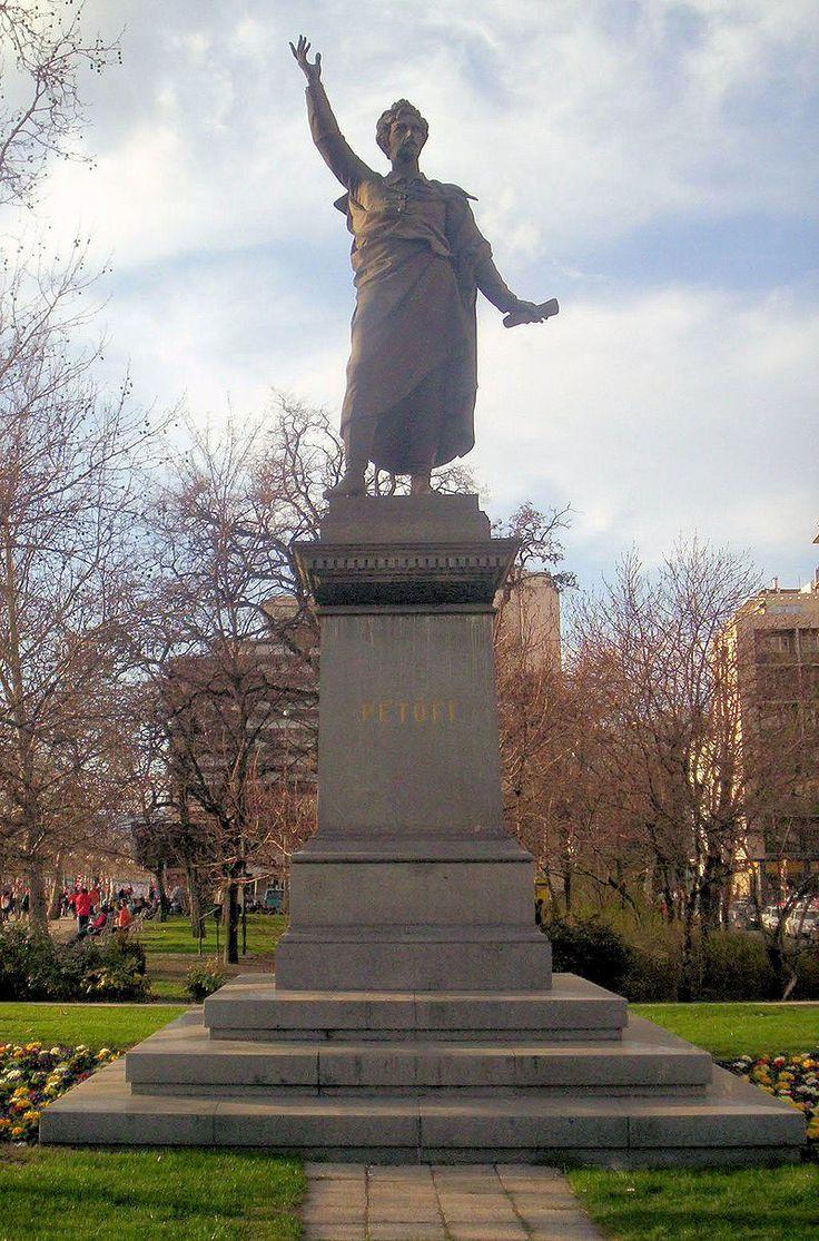 Petőfi Sándor szobra, Izsó Vilmos és Huszár adolf alkotása Budapest - Izsó Miklós (szobrász) – Wikipédia